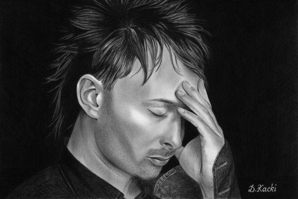 Thom Yorke chanteur du groupe Radiohead