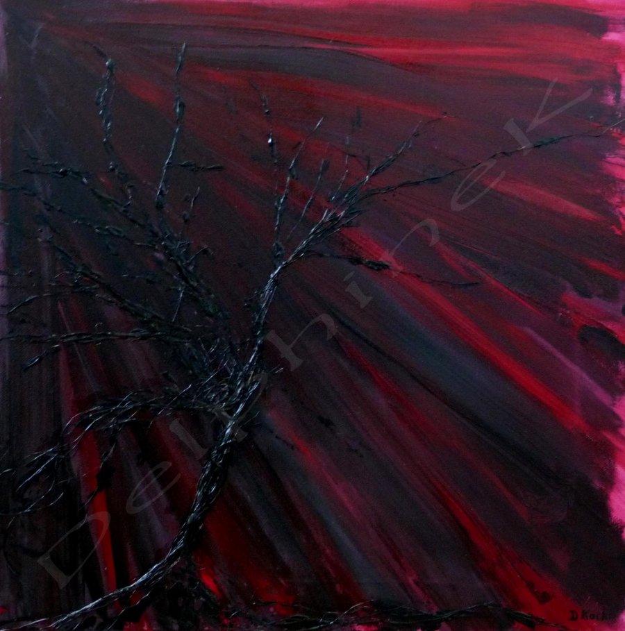 peinture acrylique sur toile 40x40 cm